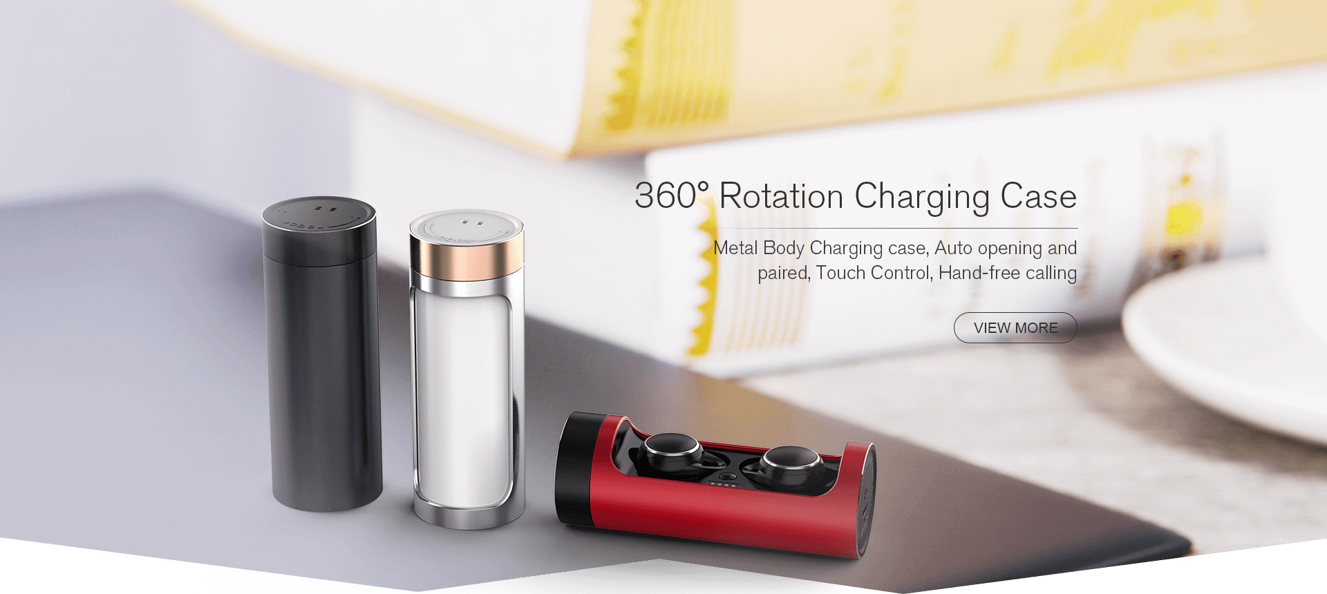 360° Rotation Charging Case