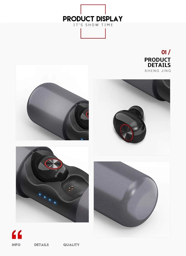 V8 TWS Wireless Earphone with Charging Case Likes Capsule Type