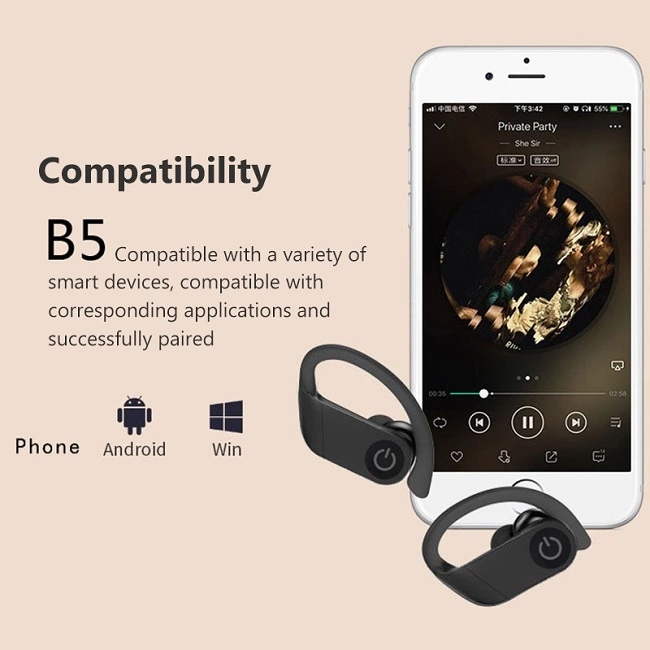 B5 popular appearance design Hot selling TWS wireless earbuds